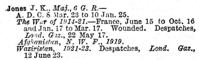 WW2 Indian Army List